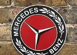 Reclamebord Gietijzeren Muurplaat Mercedes Benz 2dehands Be