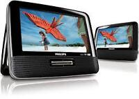 "DVD PORTABLE 9"" Dual-Screen Portable DVD Player"