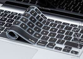 Black Silicone Keyboard Cover Skin for ALL Macbook Pro 13 15 17