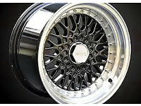 "VW Volkswagen scirocco BBS RS style brand new Alloy wheels 16"" inch x 9j 4x100 alloys wheel"