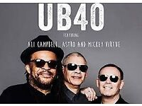 Ub40 tickets for tonight 27/05/17