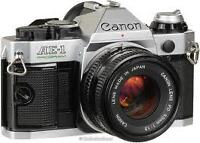 Canon AE1 35mm with extra lense