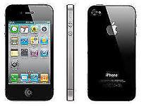 APPLE iPhone 4s 16GB BLACK UNLOCKED 3 MTHS WARRANTY GOOD CONDITION BOX LAPTOP/PC USB LEAD HEADPHONES