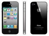APPLE iPhone 4 8GB BLACK FACTORY UNLOCKED 60 DAYS WARRANTY GOOD CONDITION LAPTOP/PC USB LEAD