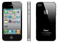 APPLE iPhone 4s 16GB BLACK UNLOCKED 3 MTHS WARRANTY GOOD CONDITION BOX LAPTOP/PC USB LEAD HEADPHONES