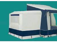 Eurovent motorhome freestanding awning with sleeping pod
