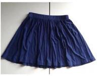 Women's ASOS blue skater skirt, size 8
