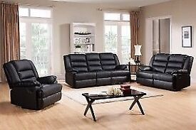 SAME DAY DELIVERY🛑BLACK, BROWN COLOR🛑BRAND NEW LUXURY CHICAGO RECLINER 3+2 SEAT OR CORNER SOFA SET