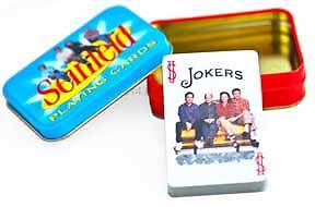 SEINFELD PLAYING CARDS SEALED DECK WITH COLLECTOR TIN