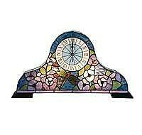 Tiffany Style Stained Glass Clock - Worth $200