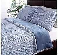 Berkshire Tipped Sherpa 3pc Comforter Set D/Q