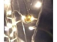 Lost gold coin necklace in Borough, London