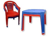 Kids patio table and chair set