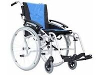 manual wheelchair brand new weiight 12kg carrying weight 20stone, free cushion