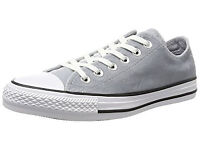 Converse Unisex Adults' CTAS Ox Wolf Grey White Trainers UK SIZE 7