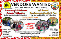 EARLY BIRD PRICES FOR VENDORS OF SCARBOROUGH AFRO CARIB FEST