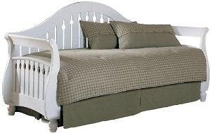 Day bed with trundle (mattresses not included)