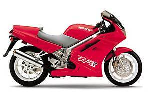 Red & White 1990 Honda VFR 750