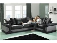 !!! Luxurious Black & Grey flux leather sofa !!!