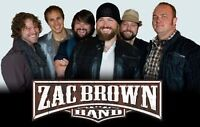 TWO ZAC BROWN BAND TICKETS SEPT 4