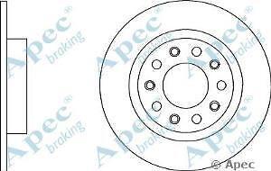 Apec Braking OE Quality Replacement Single Brake Disc Disk - DSK2861