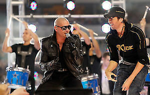 ENRIQUE IGLESIAS= PITBULL FLOOR 2ND ROW=B.3RD.ROW=C.REDS.=112=DD