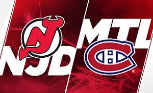 2 billets New Jersey Devils vs Canadiens de Montréal 2 février