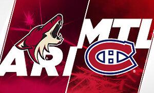 Billets à vendre Canadiens vs Arizona, 23 janvier 2019 (Blancs)