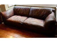 Burgundy Leather 3 Pce Suite, 4 seat sofa, 2 chairs, Italian made, Good Quality Leather