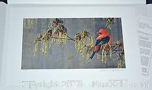"Robert Bateman ""May Maple - Scarlet Tanager"" limited edition print, s/n"