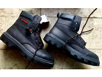 WORK BOOTS SAFETY FOOTWEAR - UK SIZE 6 - BRAND NEW - STEEL TOE BUSINESS INDUSTRIAL WAREHOUSE OFFICE