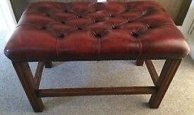 Quality Double Leather Chesterfield Stool