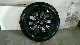 ALLOYS X 5 OF 20 INCH GENUINE RANGEROVER VOGUE FULLY POWDERCOATED IN A STUNNING BLACK/SPARKLE NICE