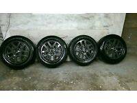 ALLOYS X 4 OF 18 INCH GENUINE 4X4 LANDROVER DISCOVERY 3 OR 4 MODEL FULLY POWDERCOATED IN ANTHRACITE