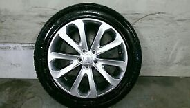 ALLOYS X 5 OF 20 INCH GENUINE RANGEROVER VOGUE FULLY POWDERCOATED IN A STUNNING SHADOW/CHROME NICE