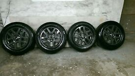 ALLOYS X 4 OF 18 INCH GENUINE 4X4 LANDROVER/DISCOVERY 3 OR 4 MODEL FULLY POWDERCOATED IN ANTHRACITE