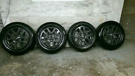 ALLOYS X 4 OF 18 INCH GENUINE LANDROVER DISCOVERY 3 OR 4 MODELS FULLY POWDERCOATED IN ANTHRACITE