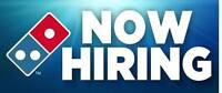 Domino's Pizza in Simcoe is hiring !!!