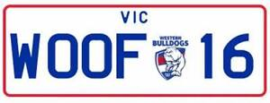 WOOF - 16 - Western Bulldogs Number Plates Greensborough Banyule Area Preview