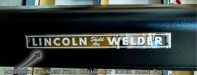 """Lincoln SA-200 """"Shield Arc"""" Mirrored Stainless Steel NAMEPLATE (QTY-1) BW612 for sale  Phoenix"""