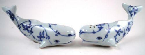 Whale Salt And Pepper Shakers Ebay