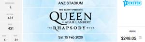 Queen & Adam Lambert BARGAIN 1 X Sydney Premium Seat