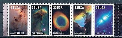 TIMBRE STAMP ZEGEL U.S.A. AMERIQUE ASTRONOME EDWIN POWELT 3048-3052 XX