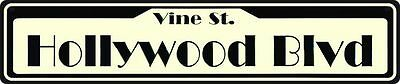 HOLLYWOOD BLVD METAL STREET SIGN 24