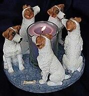 Circle of Jack Russell Terriers, Parson Russell candleholder Oakville / Halton Region Toronto (GTA) image 1