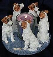 Circle of Jack Russell Terriers, Parson Russell candleholder