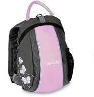 LittleLife Runabout Toddler Mini Backpack With Rein - girls pink grey butterfly