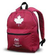 P&G Red Canadian Maple Leaf Backpack - NEW