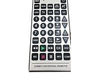Extra Large Remote 6 in 1 Universal Jumbo Remote Control