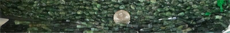 Natural Emerald From Brazil, oval beads, 16 inch strand
